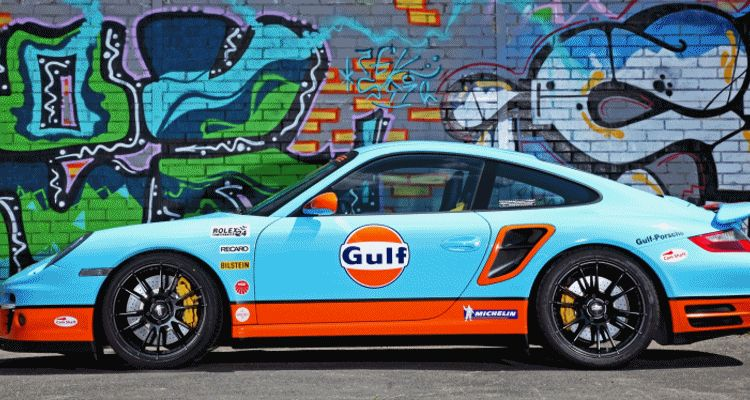 Gulf Racing Livery by CAM SHAFT for the Porsche 911 Turbo GIF header