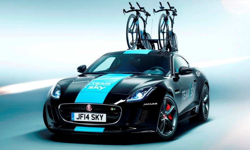 JAGUAR Special Ops F-Type R Coupe and XFR-S SportBrake for Team Sky Tour de France Cyclists 1