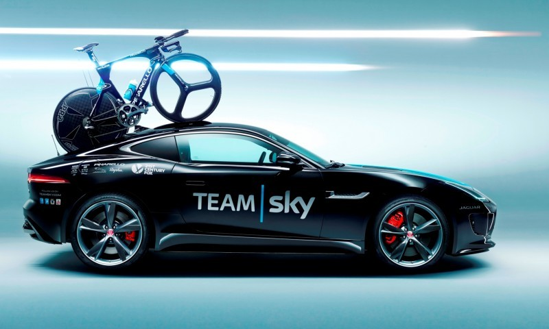 JAGUAR Special Ops F-Type R Coupe and XFR-S SportBrake for Team Sky Tour de France Cyclists 2