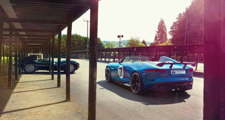 Jaguar P7 and D-TYPE Header GIF