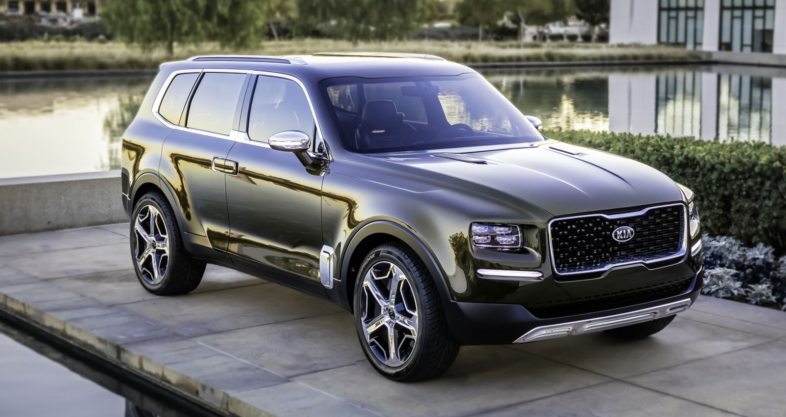 2016 kia telluride concept lwb suv brings 7 seat chalet cachet. Black Bedroom Furniture Sets. Home Design Ideas