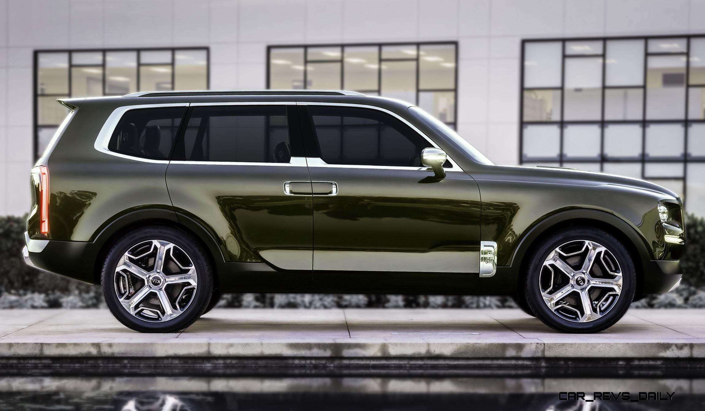 Kia Telluride Concept Lwb Suv Brings Seat Chalet Cachet