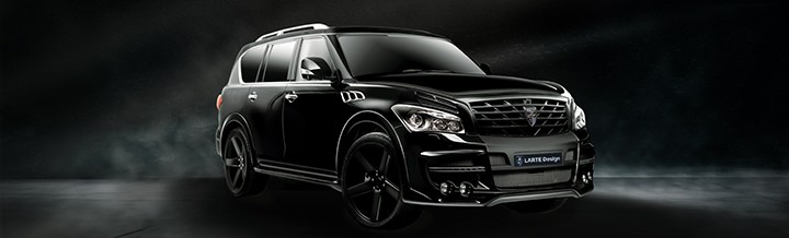 LARTE Design Arrives in California! INFINITI QX80 Customs Are Scary-Cool With 3 Levels of Upgade Kits Offered 29