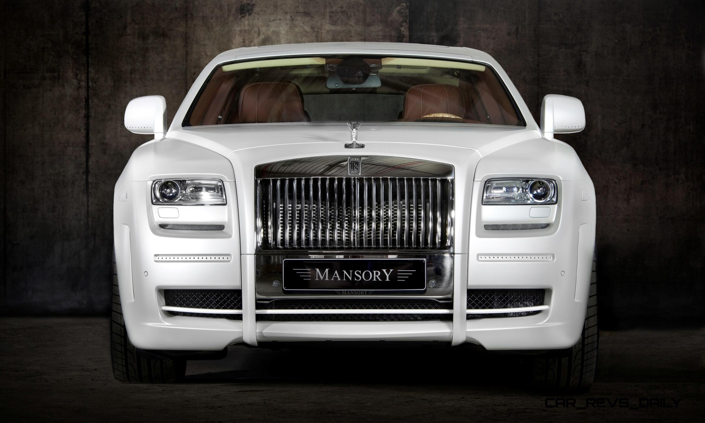 Mansory Rolls Royce Ghost Upgrades In White And Electric Blue Gold