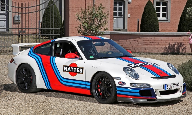 Martini-style Racing Livery by CAM SHAFT for the Porsche 911 GT3 1