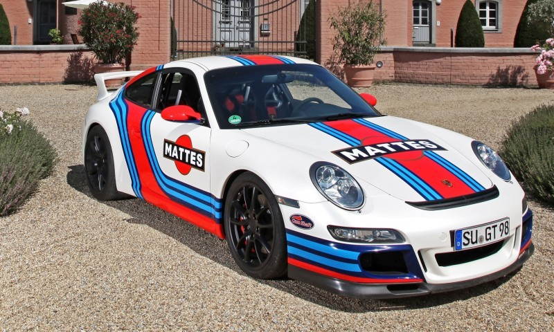 Martini-style Racing Livery by CAM SHAFT for the Porsche 911 GT3 12