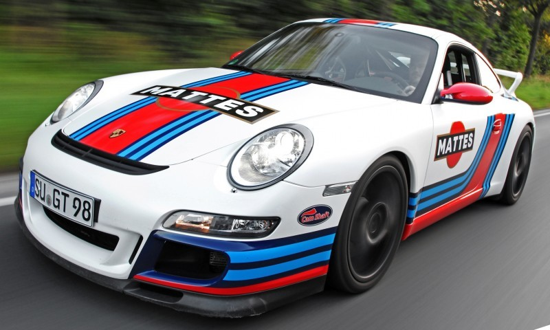 Martini-style Racing Livery by CAM SHAFT for the Porsche 911 GT3 14