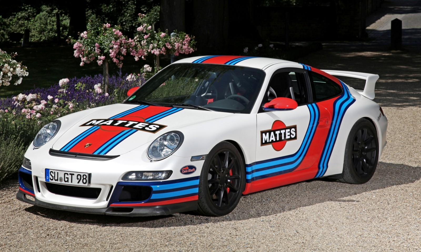 Martini-style Racing Livery by CAM SHAFT for the Porsche 911 GT3 15