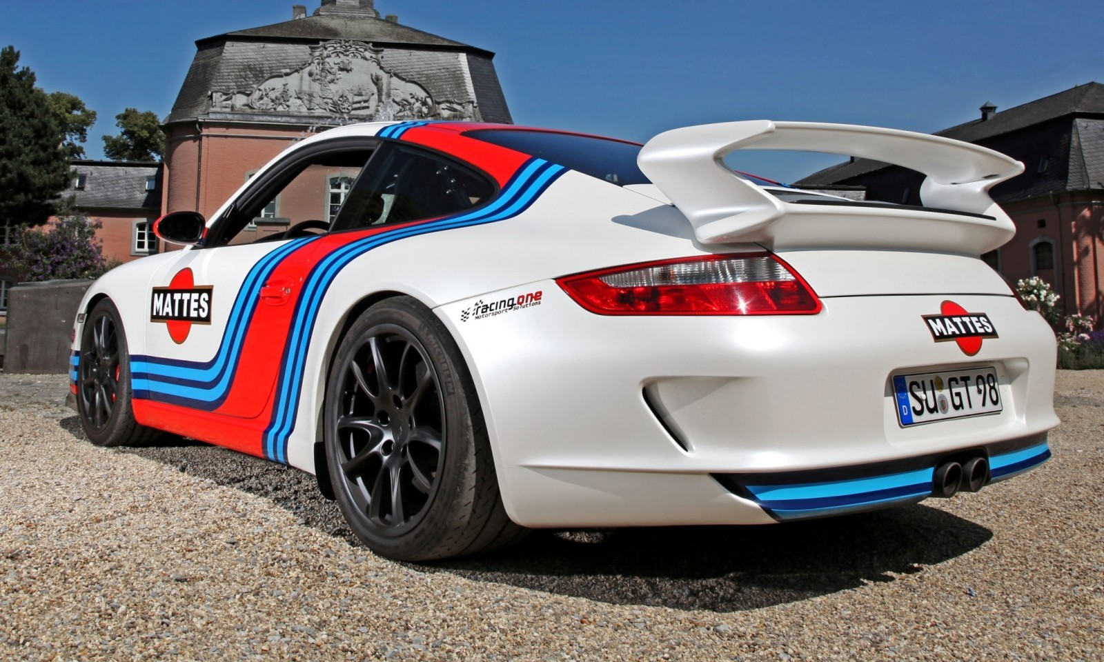 Martini-style Racing Livery by CAM SHAFT for the Porsche 911 GT3 21