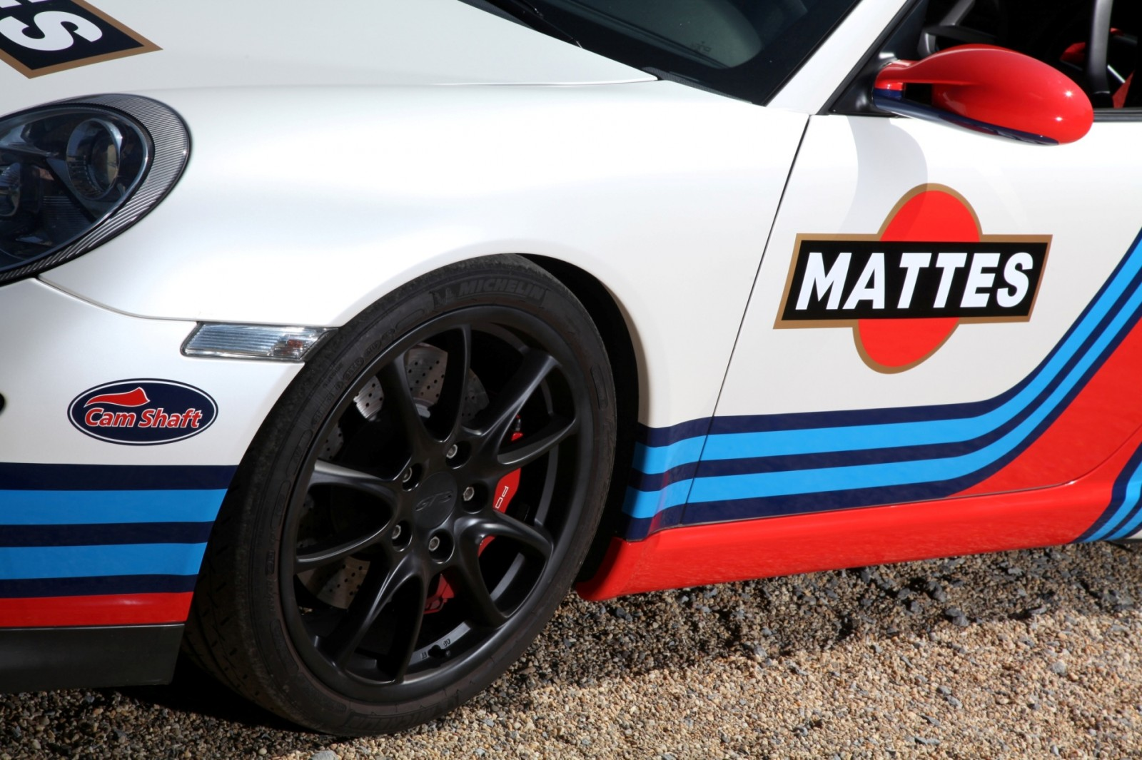 Martini-style Racing Livery by CAM SHAFT for the Porsche 911 GT3 3