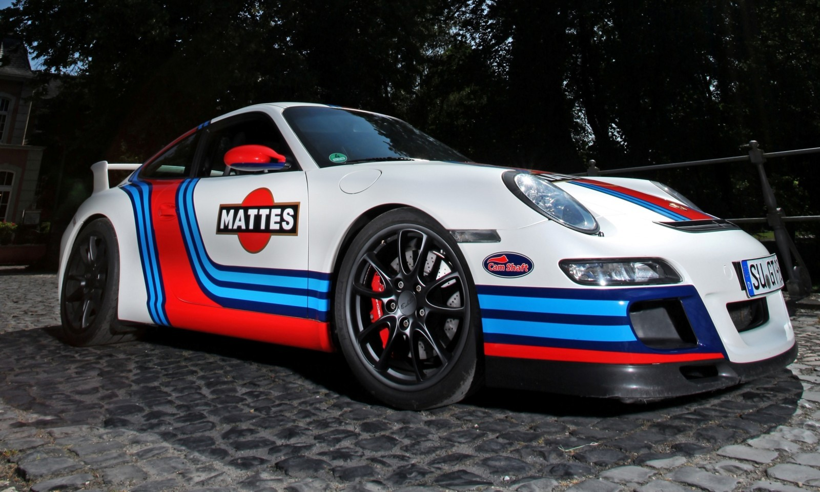 Martini-style Racing Livery by CAM SHAFT for the Porsche 911 GT3 9