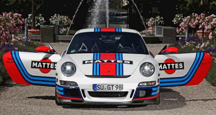 Martini-style Racing Livery by CAM SHAFT for the Porsche 911 GT3  GIF header1