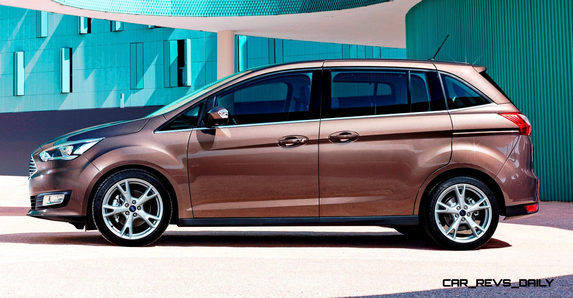 2015 ford c max and 7 seat grand c max make uk debut with revised styling and tech. Black Bedroom Furniture Sets. Home Design Ideas