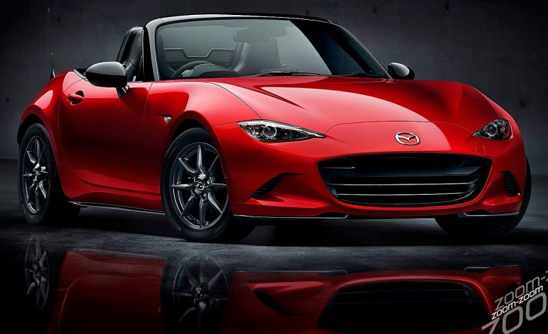 Next-Gen 2016 Mazda MX-5 First Look Shows Lean New Design 1