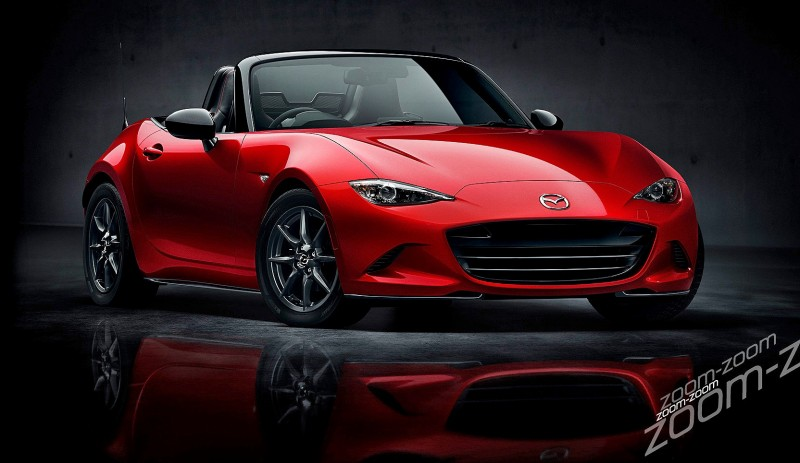 Next-Gen 2016 Mazda MX-5 First Look Shows Lean New Design 5