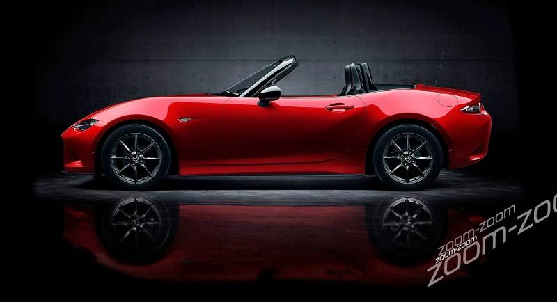 Next-Gen 2016 Mazda MX-5 First Look Shows Lean New Design 8