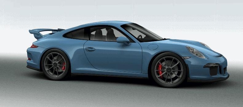 Porsche 911 GT3 Configurator special blue day spinner GIF