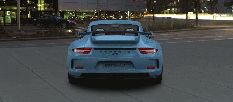 Porsche 911 GT3 Configurator special blue night spinner GIF