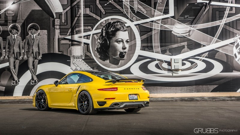 Porsche 991 Turbo S with HRE RC100 in Gloss Black_23696804393_o