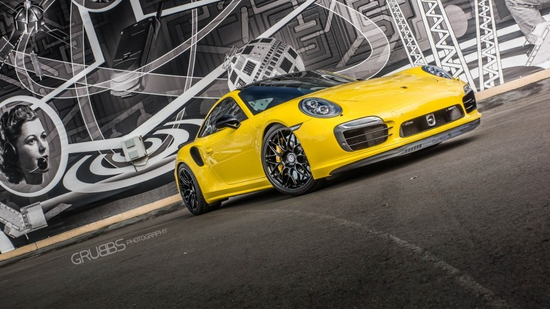 Porsche 991 Turbo S with HRE RC100 in Gloss Black_23955817999_o