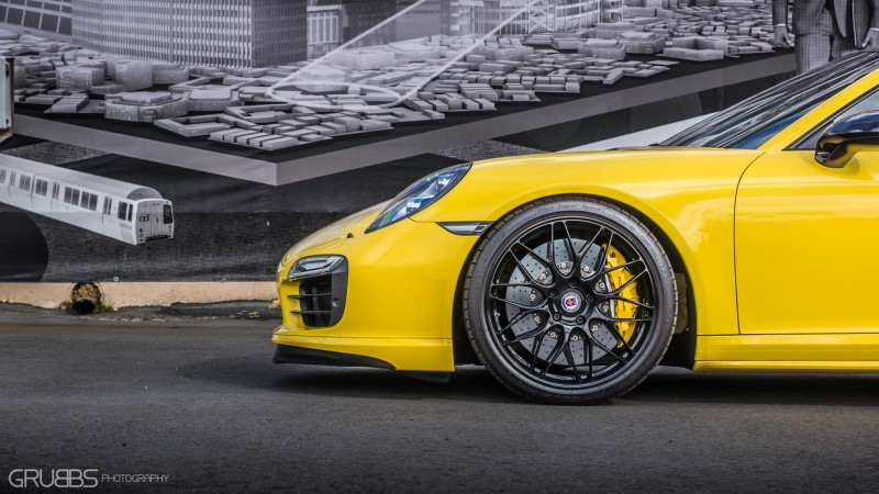 Porsche 991 Turbo S with HRE RC100 in Gloss Black_24028045260_o