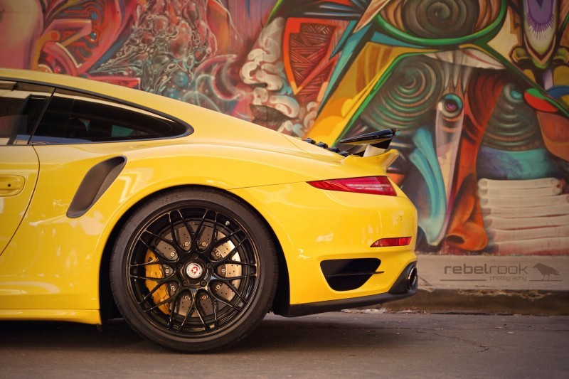 Porsche 991 Turbo S with HRE RC100 in Gloss Black_24147656536_o