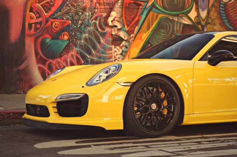 Porsche 991 Turbo S with HRE RC100 in Gloss Black_24173754345_o