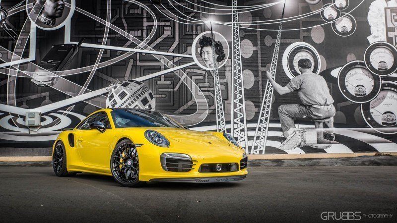 Porsche 991 Turbo S with HRE RC100 in Gloss Black_24215428772_o