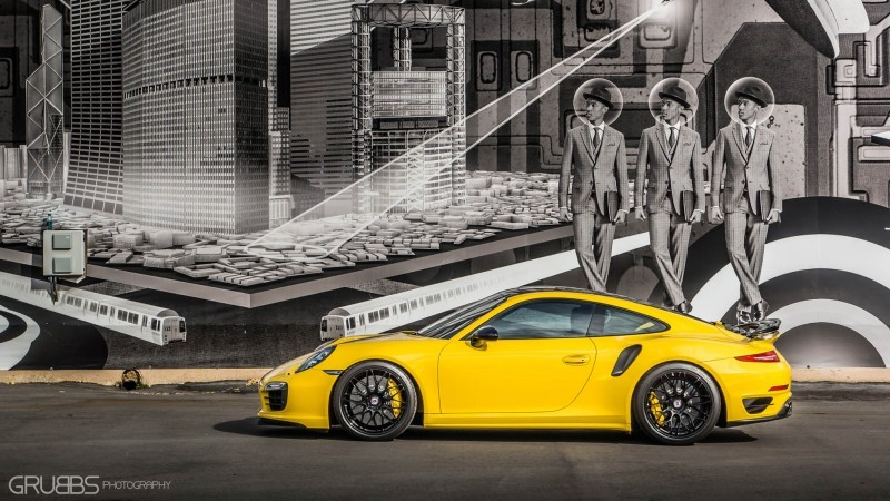 Porsche 991 Turbo S with HRE RC100 in Gloss Black_24297460546_o