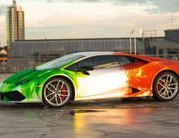 2016 PrintTech.de Lamborghini HURACAN TRICOLORE in Brushed Chrome Flames