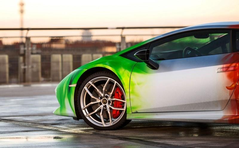 2016 PrintTech.de Lamborghini HURACAN TRICOLORE in Brushed Chrome Flames 2016 PrintTech.de Lamborghini HURACAN TRICOLORE in Brushed Chrome Flames
