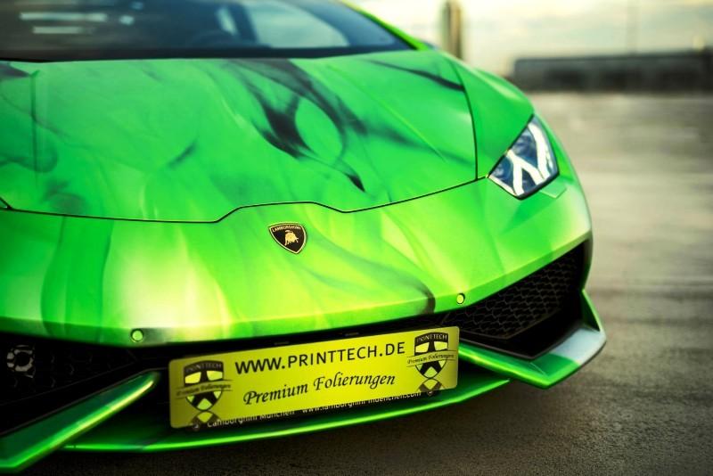 2016 PrintTech.de Lamborghini HURACAN TRICOLORE in Brushed Chrome Flames