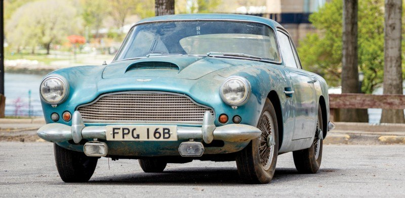RM Auctions Monterey 2014 Preview - 1961 Aston-Martin DB4 Lost by Castrol Ltd, Found By You 22