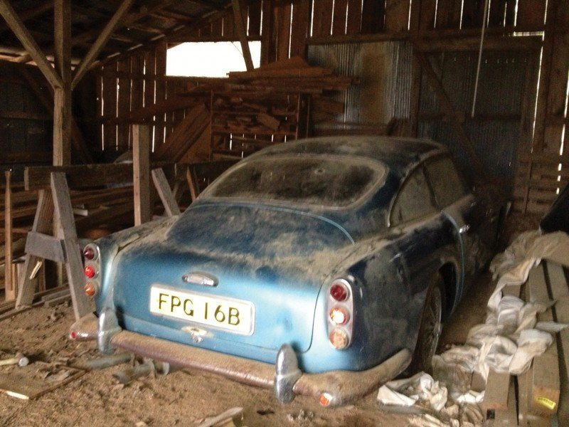 RM Auctions Monterey 2014 Preview - 1961 Aston-Martin DB4 Lost by Castrol Ltd, Found By You 24