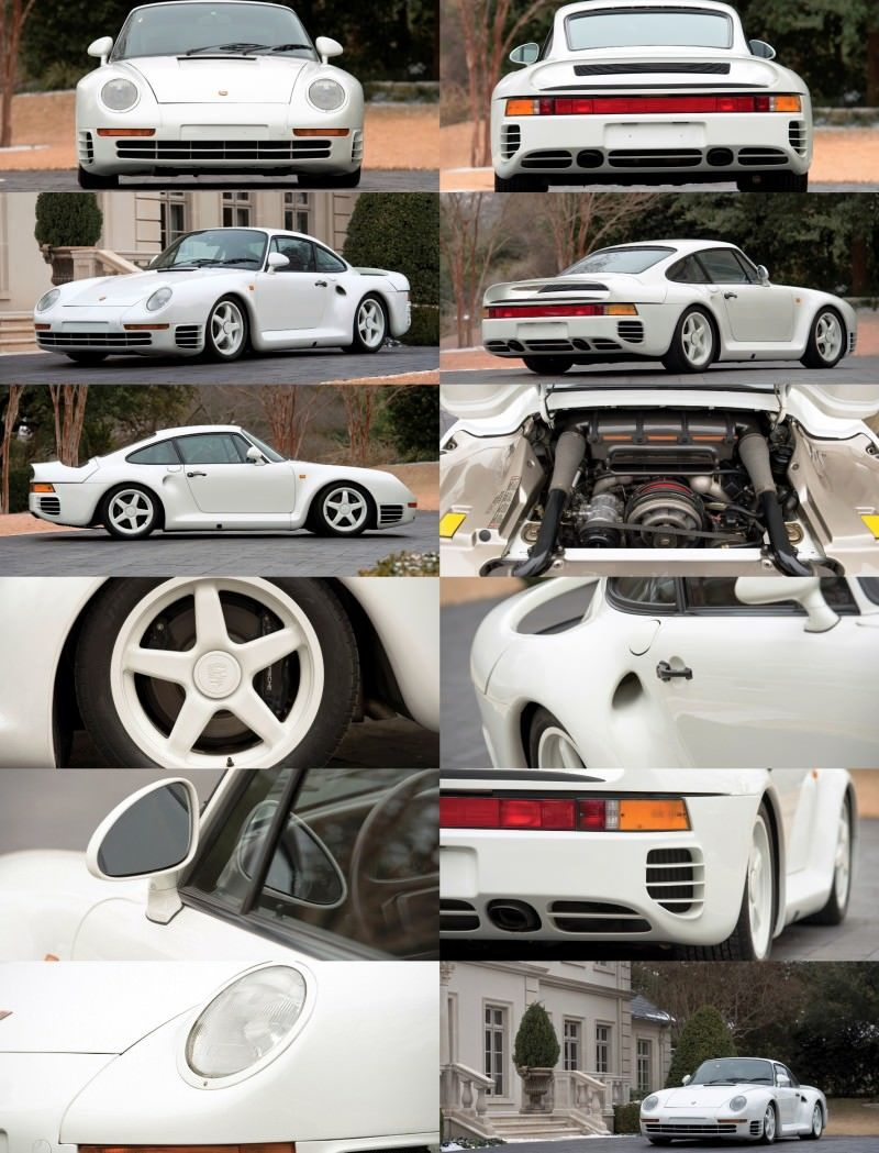 RM Monaco 2014 Highlights - 1985 Porsche 959 Prototype in Bright White Earns $653k 15-tile