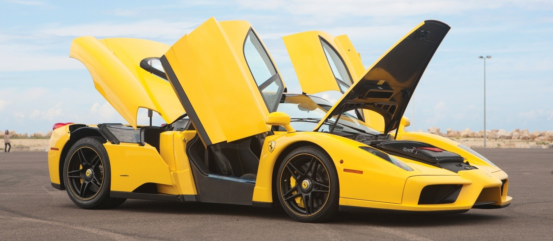 rm monaco 2014 highlights 2003 ferrari enzo in yellow over black 18 - Ferrari 2014 Yellow