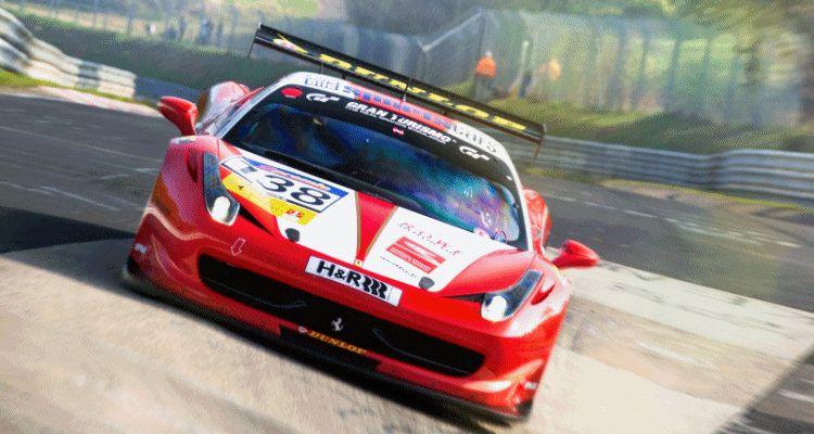 RacingOne Ferrari 458 header gif