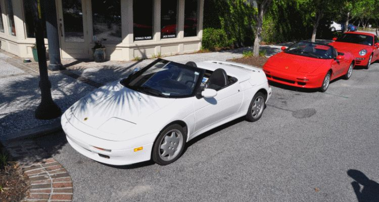 Rare Ragtops - A Pair of Lotus Elans Graced Kiawah Island, SC Cars and Coffee Today GIF