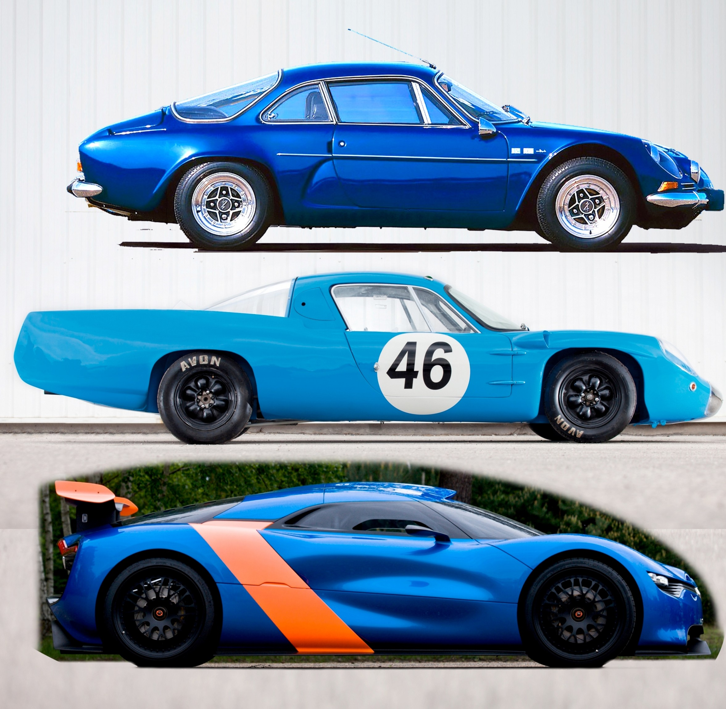 sportscar legacies then and now 2012 renault alpine a110 50 is a blend of 1964 m64 and a110. Black Bedroom Furniture Sets. Home Design Ideas