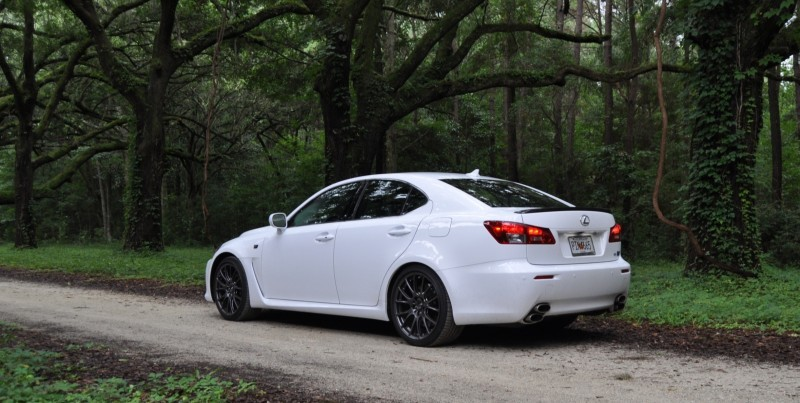 Road Test Review 2014 Lexus IS-F Is AMAZING Fun - 416HP 5.0L V8 Is Heaven in a Throttle 35