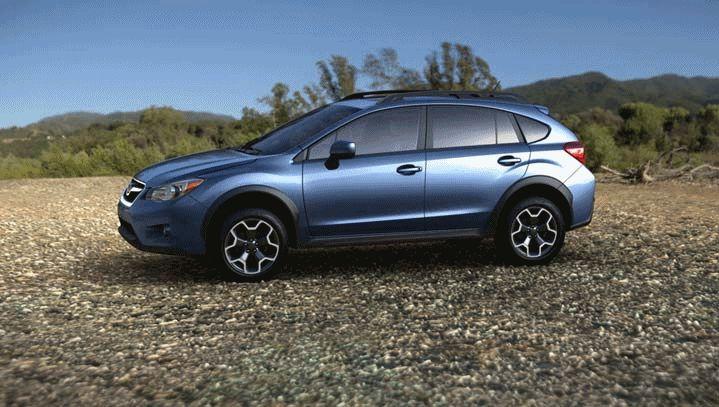 Subaru XV Crosstrek 2014 color blue GIF