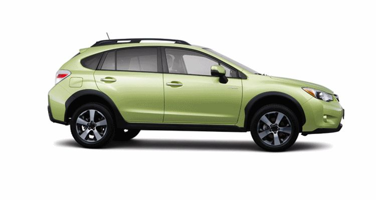 Subaru XV Crosstrek 2014 color green GIF