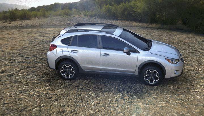 Subaru XV Crosstrek 2014 color silver GIF