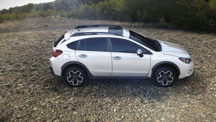 Subaru XV Crosstrek 2014 color white GIF