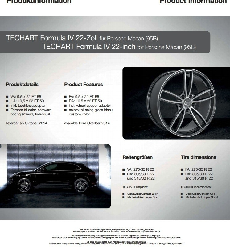 TECHART Releases First Four MACAN Wheels 9