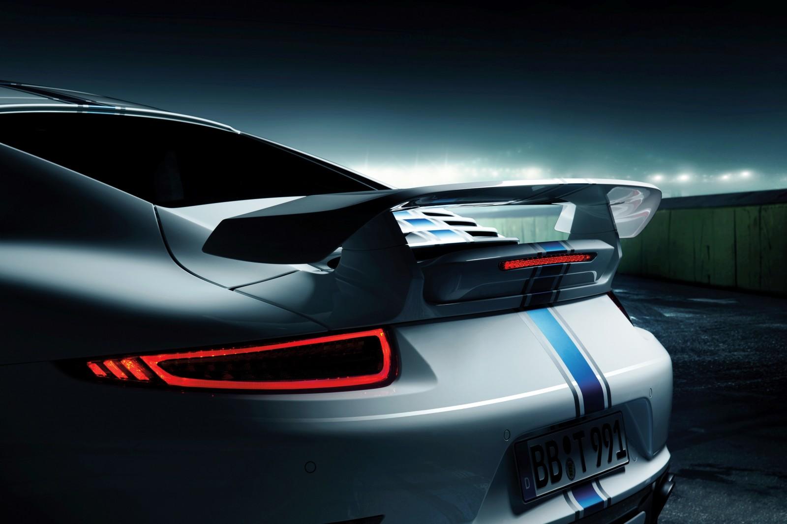 TECHART_for_Porsche_911_Turbo_models_white_rear_spoiler