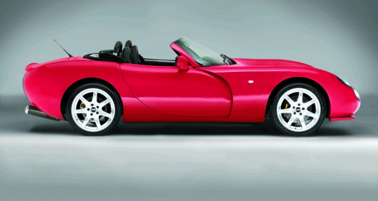 TVR Turscan Convertble Top Animation GIF