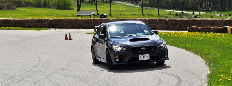 Track Test Review - 2015 Subaru WRX STI Is Brilliantly Fast, Grippy and Fun on Autocross 1