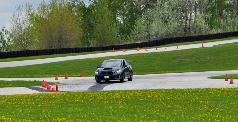 Track Test Review - 2015 Subaru WRX STI Is Brilliantly Fast, Grippy and Fun on Autocross 10