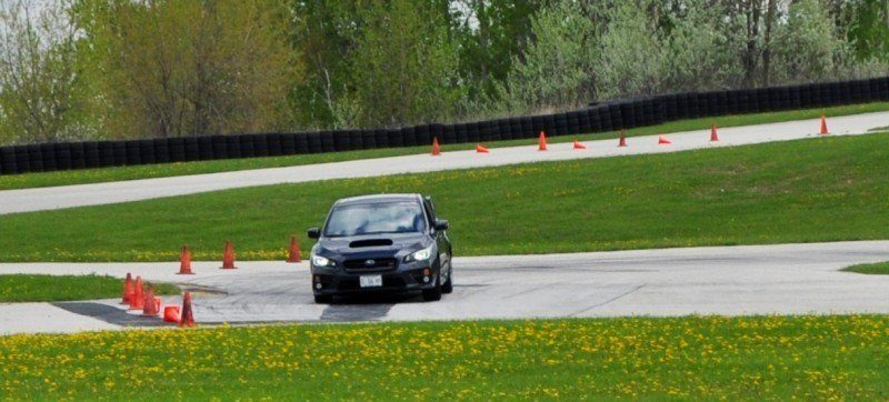 Track Test Review - 2015 Subaru WRX STI Is Brilliantly Fast, Grippy and Fun on Autocross 11